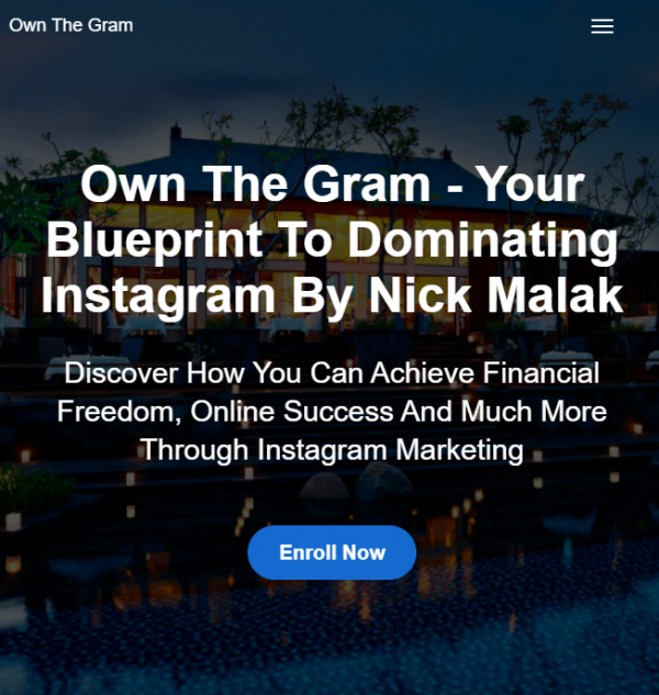 Nick Malak - Own The Gram - Your Blueprint To Dominating Instagram